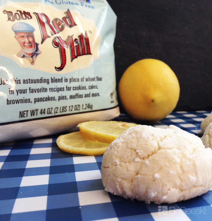 Gluten Free Lemon Crinkle Cookies with Bob's Red Mill 1 to 1 baking flour