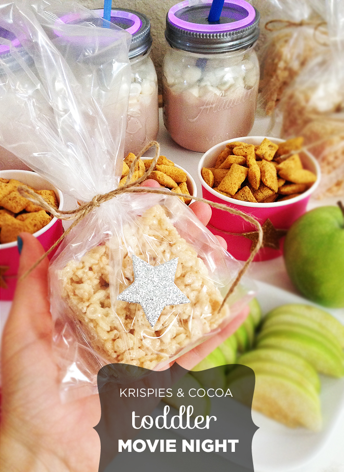 Krispies & Cocoa Toddler Movie Night: Rice Krispie Treats with Star Stickers