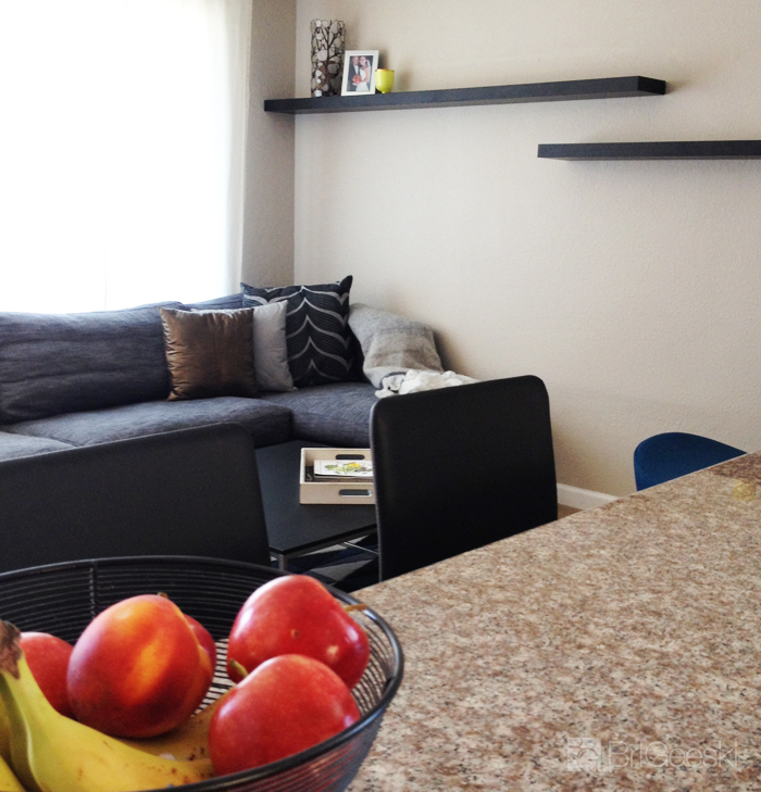 Living Room View from Kitchen
