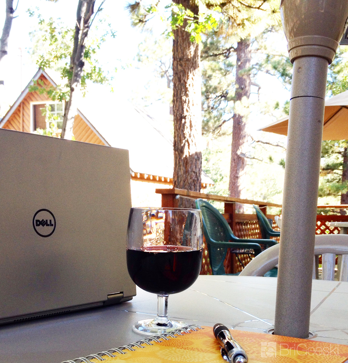 Dell wine time in Big Bear
