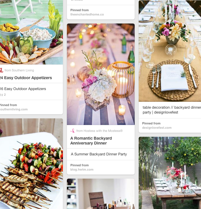 Pinterest Board : Patio Parties