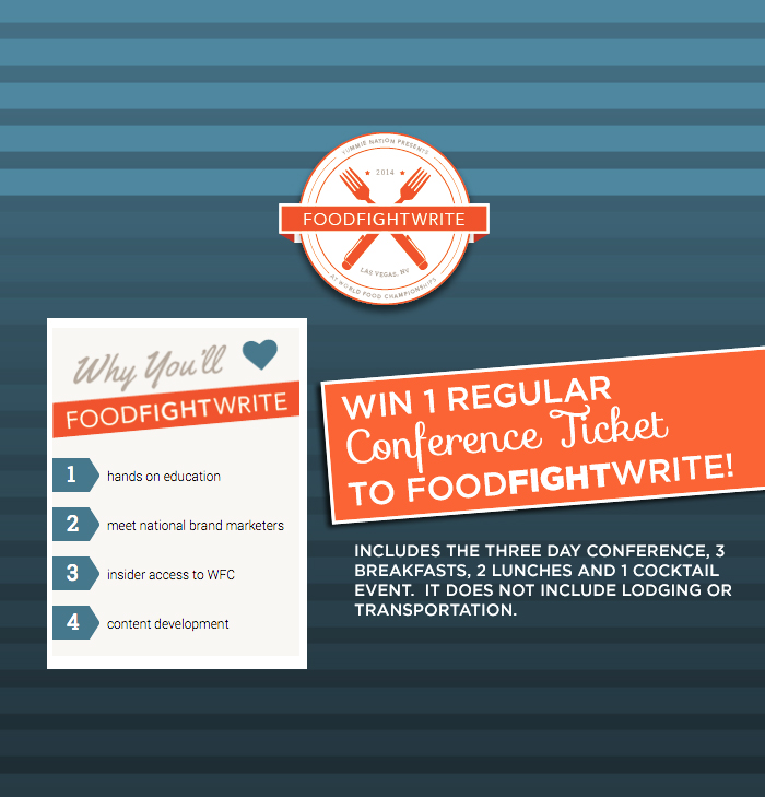 foodfightwrite conference ticket giveaway
