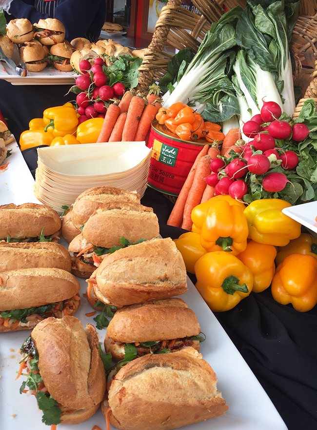 Banh Mi Vietnamese sandwiches on fresh baked baguette