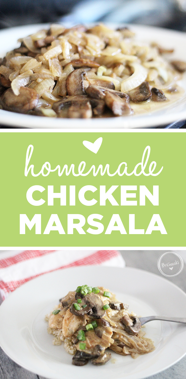 Homemade Chicken Marsala