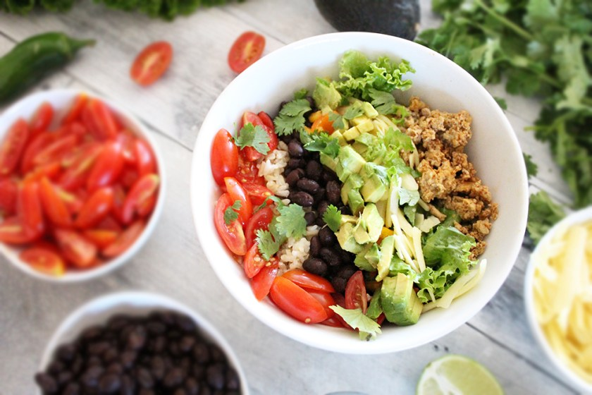 Try these delicious California Turkey Bowls