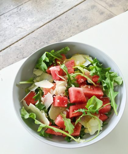 watermelon parmesan salad