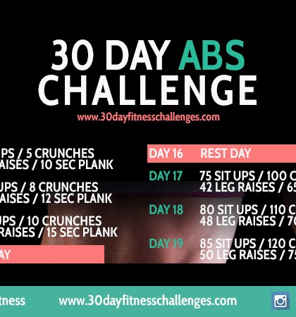 30 Day Ab Challenge #30DayFitness