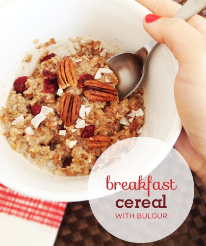 Cranberry Coconut Breakfast Cereal Recipe with Bulgur