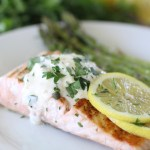 Lemon + Herb Salmon with Garlic Aioli