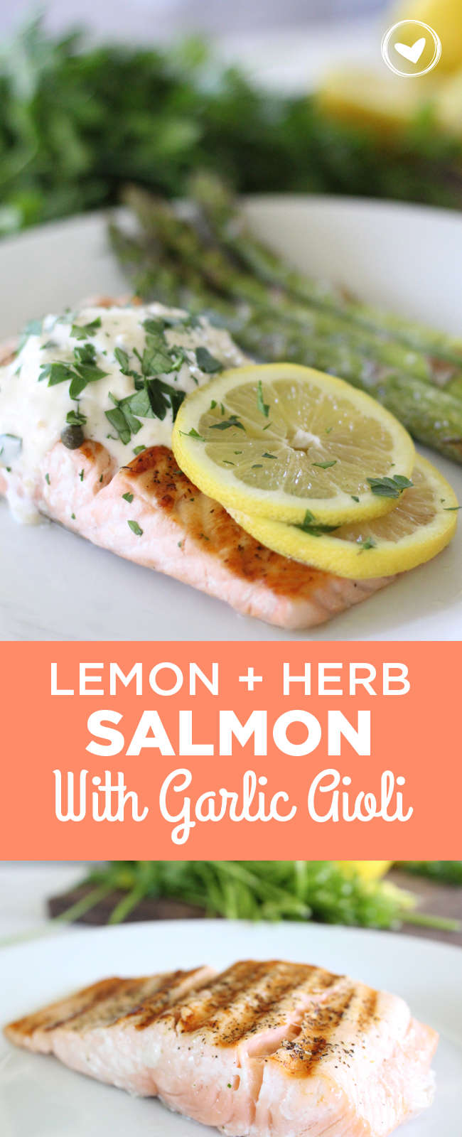 Lemon and Herb Salmon with Garlic Aioli