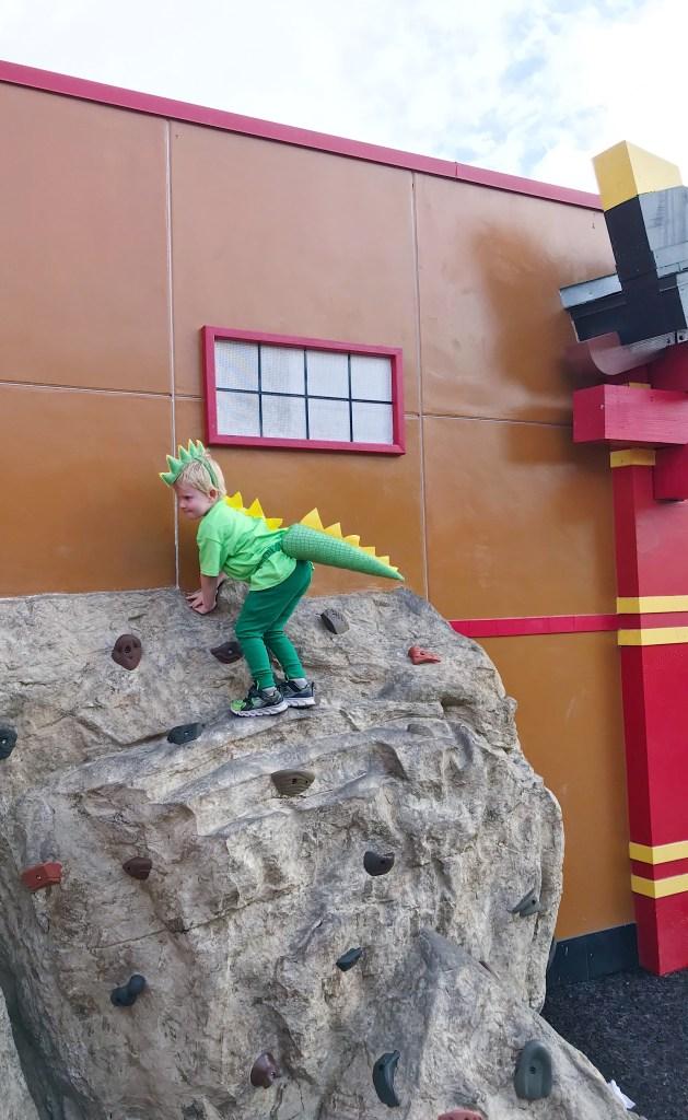 Dino Rock Climbing at LEGOLAND
