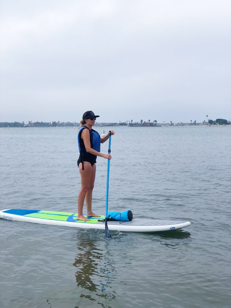 Paddleboarding for fun in San Diego