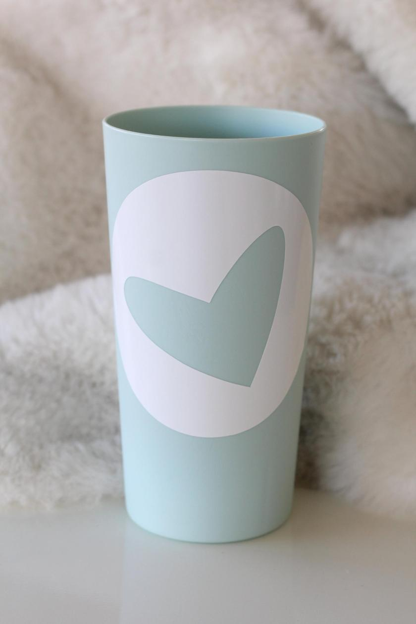 Vinyl Heart Stickers for mugs and cups