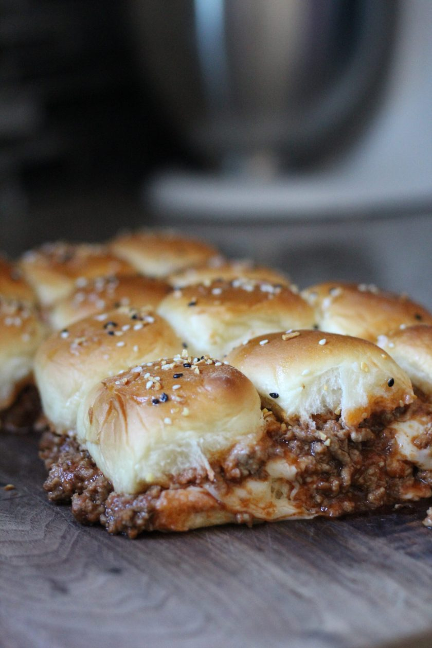 Everything bagel topped sloppy joes