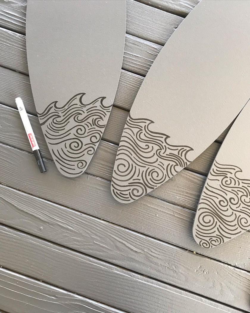 Ceiling Fan Custom Painting Design