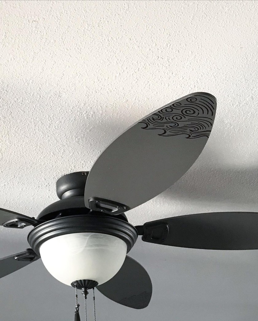 How to paint a ceiling fan