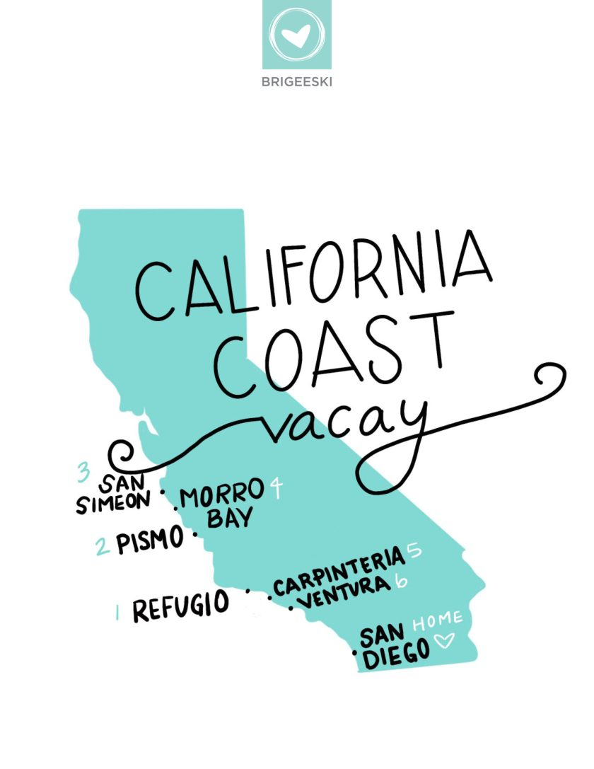 California Coast Vacay