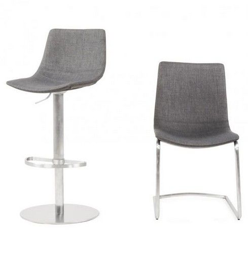 chrome dining chairs uk grosfillex lounge bronte grey fabric and chair 9794 p jpg