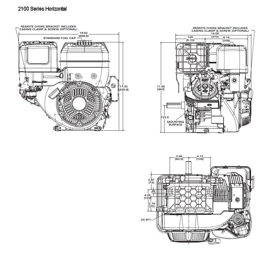 Briggs and Stratton New Replacement Horizontal Crankshaft
