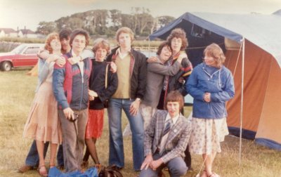School friends, post driving tests, on holiday in Rothbury 1977/8- photo Alistair Butler