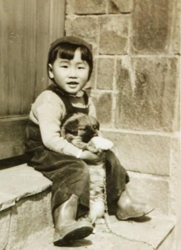 Nobuo in 1952 with Fritz -photo Satoshi Yamato