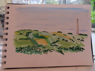 Emley Moor Mast on a sunny day, by Ursula