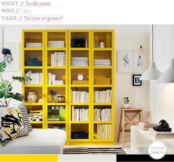 Bright Colored Bookcase
