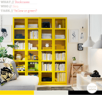 Bright Colored Bookcase