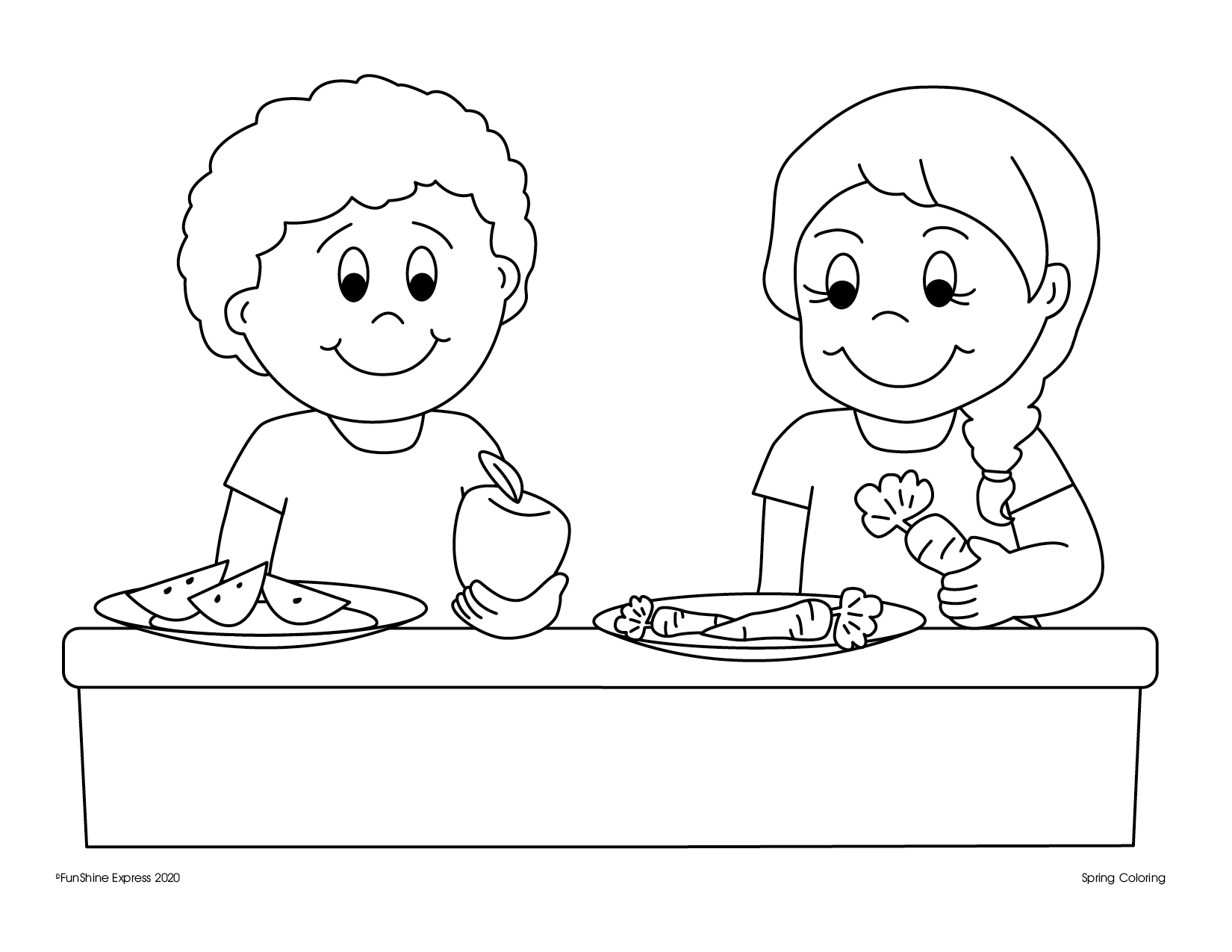 Coloring Page-Snack Time