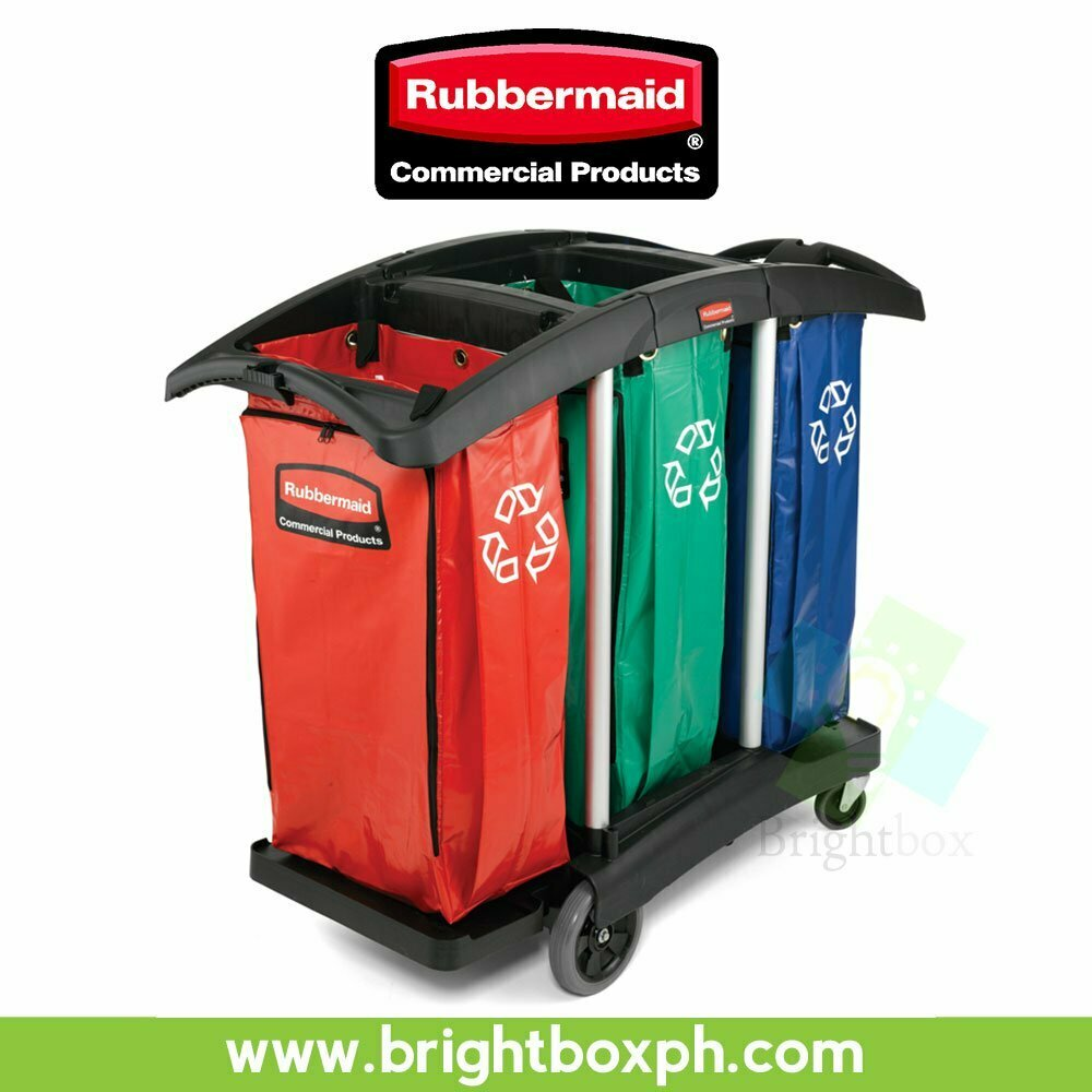 rubbermaid high chair philippines folding upholstered triple capacity cleaning cart | brightbox
