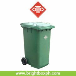 Rubbermaid High Chair Philippines Diy Upholstery Otto 2-wheeled Mobile Trash Bin 240l | Brightbox Enterprises