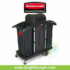 Rubbermaid High Chair Philippines Portable Massage Chairs Security Housekeeping Cart Brightbox