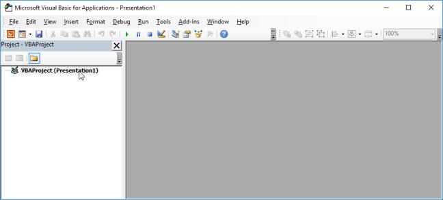 PowerPoint VBE Tanpa Modul