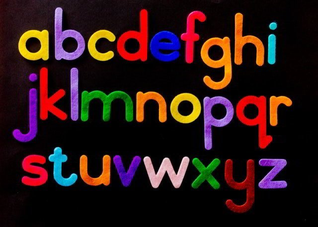 Dyslexia - Letters of the alphabet.