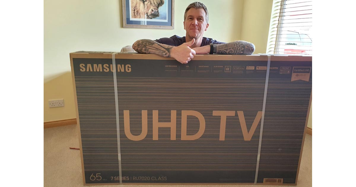 win a samsung tv competition winner