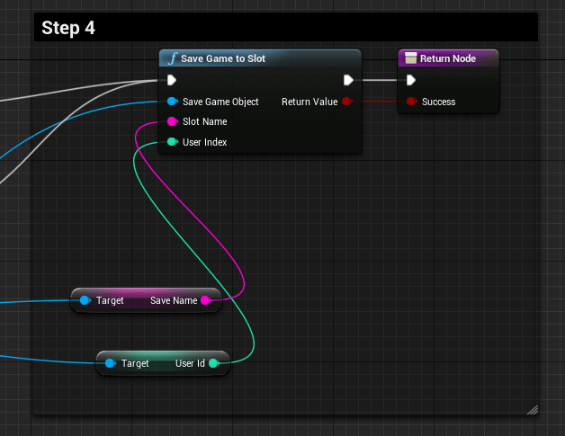 How to save and load game saves in unreal engine 4 bright developers saving in blueprint step 4 malvernweather Choice Image
