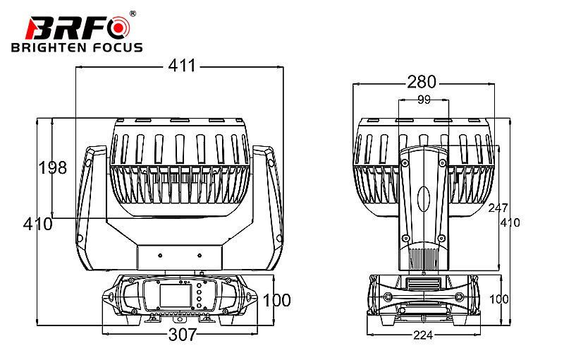China Customized 19X40W LED Moving Head Wash Zoom
