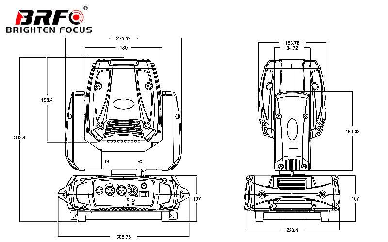 China Customized Battery Powerd Moving Head Spot Lights