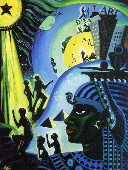 The Ascent of Ethiopia, 1932, oil on canvas