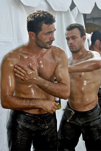 Oiled gay two scene two photo