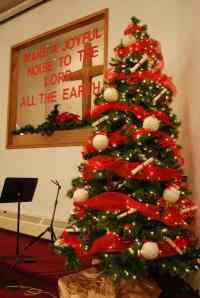 Church Christmas Decorating