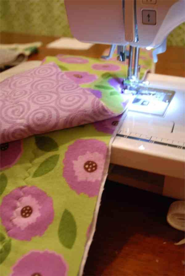 Flannel Strip Baby Quilt