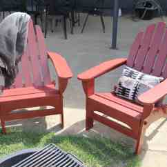 Red Adirondack Chairs Are Massage Any Good A Pop Of Painted
