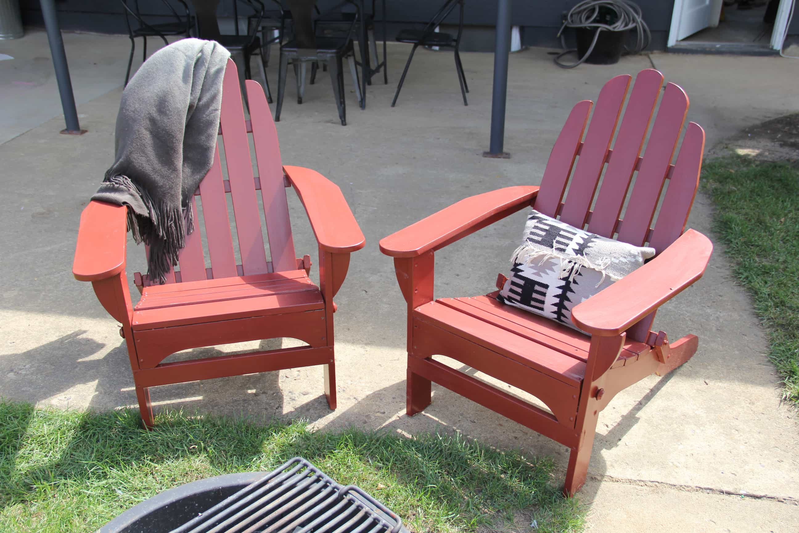 paint for adirondack chairs ergonomic chair singapore review a pop of red painted
