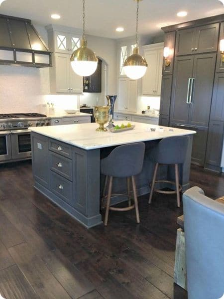 The Look Two Tone Tuxedo Kitchen