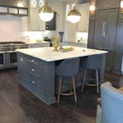 Kitchen Island Cabinets Stainless Steel Carts The Look- Two Tone Tuxedo - Bright Green Door