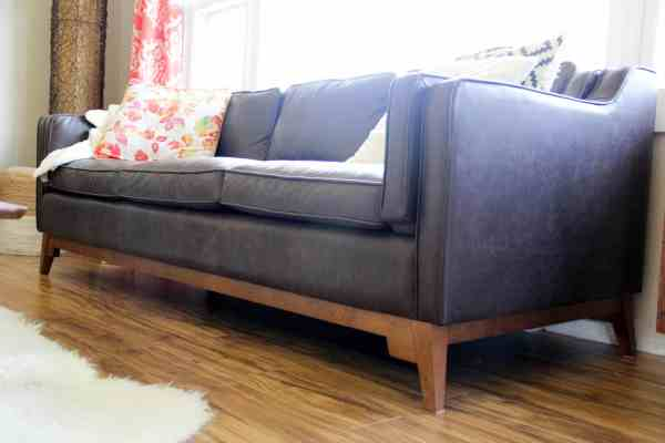 Brown Leather Vintage Couch