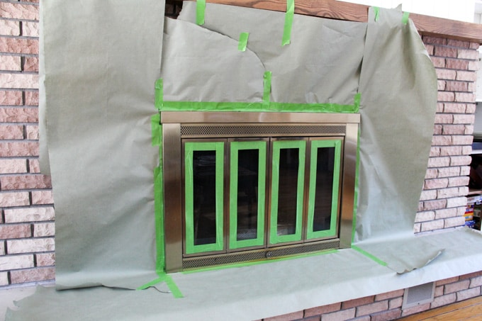 How to spray paint a brass fireplace bright green door for Minimalist living with pets