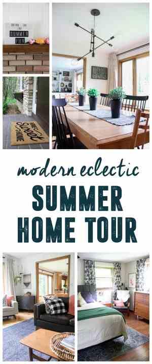 Modern Eclectic Summer Home Tour