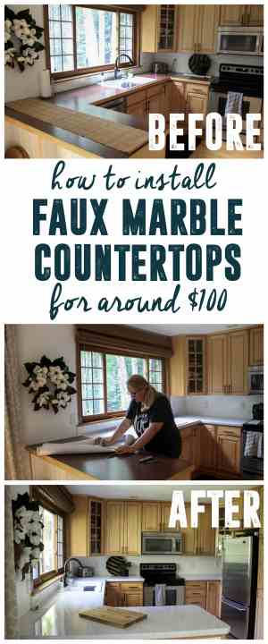 DIY Faux Marble Coutners